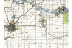 Рис. 14. Место расположения поселения Бузинка II на картах Краснодарского края и Выселковского района