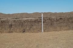 Рис. 7. Стратиграфия раскопа на поселении Сухие Челбасы 18. Северная стенка по линии Б