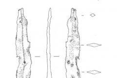 Рис. 8. Поселение Сухие Челбасы 18. Находки из слоя. 1-3 – кремень; 4 – железо