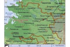 Рис. 1. Схема расположения курганной группы Терновка 10 в восточном Приазовье