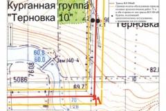Рис. 2. Курганная группа Терновка 10. Топографический план