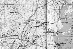 Рис. 1. Городище «Петровский городок» на карте Саратовского района