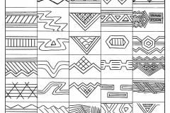 Рис. 11. Наиболее распространенные орнаментальные композиции керамики Варфоломеевской стоянки.