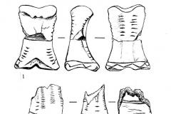 Рис. 7. Варфоломеевская стоянка. Стилизованные изображения женщины.