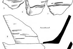 Рис. 4. Репное. 1-9 – древнерусская керамика