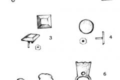Рис. 1. Детали поясной гарнитуры из кургана 8 у с.Усть-Курдюм
