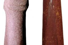 Рис. 3. Зооморфные жезлы с Варфоломеевской стоянки (1) и из ст. Преображенская (2)