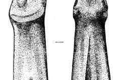 Рис. 4. Зооморфный жезл со стоянки Варфоломеевка (по: Юдин А.И., 2004, рис. 57)
