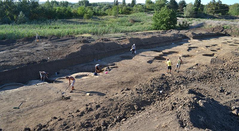 Поселение Чекон. Общий вид раскопа №1